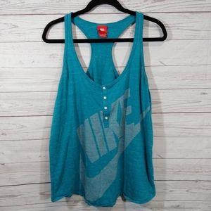 🎉 Nike teal loose fitting racer back tank top